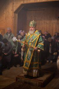 В Балабаново в храме в честь прав. Иоанна Кронштадтского прошло архиерейское богослужение